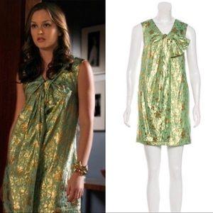 3.1 Phillip Lim Metallic Floral Dress Gossip Girl